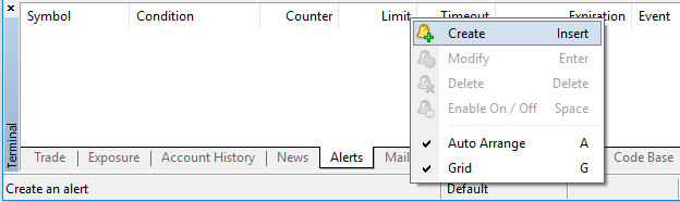 Alert Editor MT4